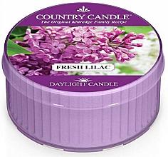 Parfémy, Parfumerie, kosmetika Čajová svíčka Svěží šeřík - Country Candle Fresh Lilac Daylight