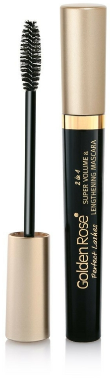 Řasenka - Golden Rose Perfect Lashes 2in1 Super Volume&Lengthening Mascara