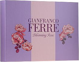 Parfémy, Parfumerie, kosmetika Gianfranco Ferre Blooming Rose - Sada (edt/50ml + b/lotion/100ml)