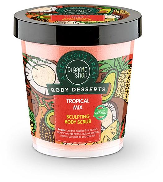 Tělový peeling proti celulitidě - Organic Shop Body Desserts Tropical mix