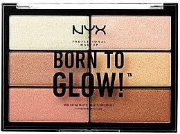 Parfémy, Parfumerie, kosmetika Paleta rozjasňovačů - NYX Professional Makeup Professional Born to Glow Highlighting Palette