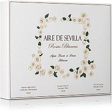 Parfémy, Parfumerie, kosmetika Instituto Espanol Aire de Sevilla Rosas Blancas - Sada (edt/150ml + sh/gel/150ml + b/lot/150ml)