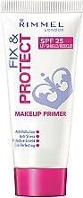 Parfémy, Parfumerie, kosmetika Primer na obličej - Rimmel Fix & Protect Makeup Primer SPF25