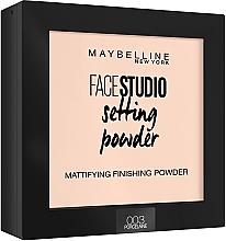 Parfémy, Parfumerie, kosmetika Matující fixační pudr na obličej - Maybelline Facestudio Setting Powder
