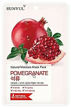 Parfémy, Parfumerie, kosmetika Látková pleťová maska s extraktem z granátového jablka - Eunyul Natural Moisture Pomegranate Mask
