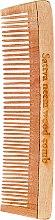Parfémy, Parfumerie, kosmetika Vlasový hřeben dřevěný, 19 cm - Sattva Neem Wood Comb