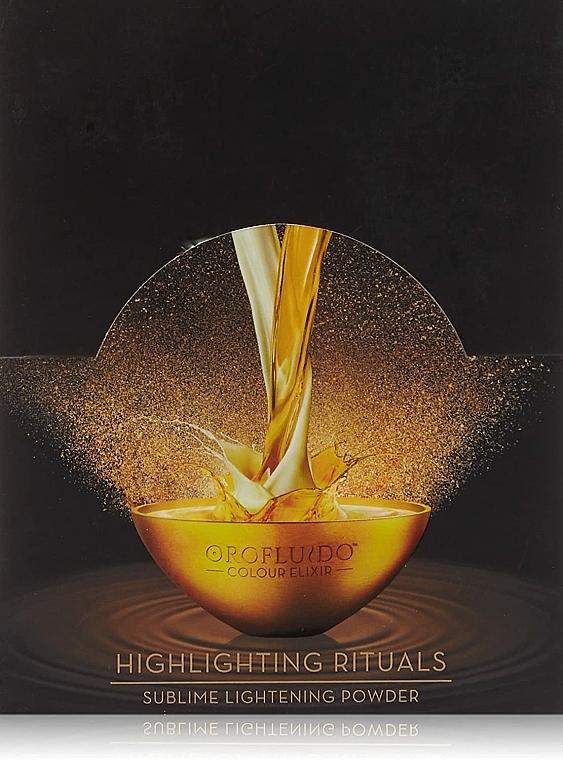 Zesvětlující pudr bez amoniaku - Orofluido Highlighting Rituals Sublime Lightening Powder — foto N3