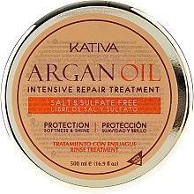 Intenzivně revitalizující hydratační vlasová maska s arganovým olejem - Kativa Argan Oil Intensive Repair Treatment — foto N6