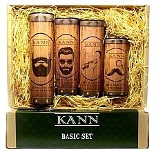 Parfémy, Parfumerie, kosmetika Sada - Kann Basic Man (f/d/cr/50ml + f/n/cr/50ml+ f/gel/150ml + eye/cr/15ml)