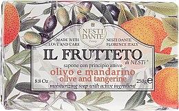 """Parfémy, Parfumerie, kosmetika Mýdlo """"Olivový olej a mandarinka"""" - Nesti Dante Il Frutteto Soap"""