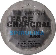 Parfémy, Parfumerie, kosmetika Pleťová maska Bambusové uhlí a spirulina - Cafe Mimi Charkoal & Spirulina Sea Face Mask