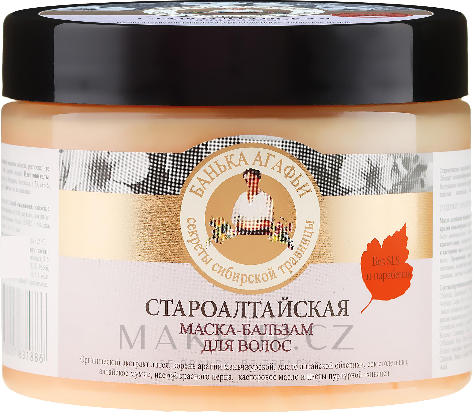 Staroaltajská maska na vlasy - Recepty babičky Agafyy Lázeň Agafií  — foto 300 ml