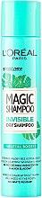 Parfémy, Parfumerie, kosmetika Suchý šampon na vlasy - L'Oreal Paris Magic Shampoo Invisible Dry Shampoo Vegetal Boost
