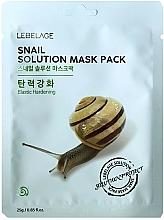 Parfémy, Parfumerie, kosmetika Pleťová maska látková - Lebelage Snail Solution Mask