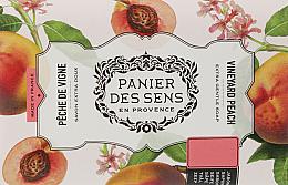Parfémy, Parfumerie, kosmetika Extra jemné mýdlo s bambuckým máslem Broskev - Panier des Sens Shea Butter Soap Vineyard Peach