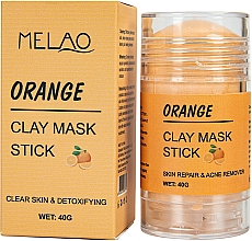 "Parfémy, Parfumerie, kosmetika Maska na obličej ""Orange"" - Melao Orange Clay Mask Stick"