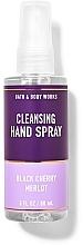Parfémy, Parfumerie, kosmetika Čisticí sprej na ruce - Bath And Body Works Cleansing Hand Spray Black Cherry Merlot