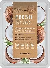 Parfémy, Parfumerie, kosmetika Pleťová látková maska s kokosovým olejem - Tony Moly Fresh To Go Coconut Mask Sheet Hydrating