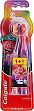 """Parfémy, Parfumerie, kosmetika Dětský zubní kartáček """"Smiles"""", 2-6 let, fialově růžový, extra měkký - Colgate Smiles Kids"""