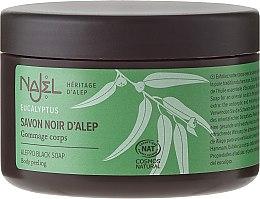 "Parfémy, Parfumerie, kosmetika Alepské mýdlo ""Černé"" - Najel Black Aleppo Soap Eucalyptus Body Peeling"