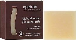 "Parfémy, Parfumerie, kosmetika Přírodní mýdlo ""Jojoba a sezam"" pro citlivou pokožku - Apeiron Jojoba & Sesame Vegetable Oil Soap"