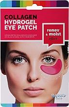 Parfémy, Parfumerie, kosmetika Kolagenová maska pod oči s červeným vínem - Beauty Face Collagen Hydrogel Eye Mask