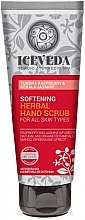 Parfémy, Parfumerie, kosmetika Peeling na ruce - Natura Siberica Iceveda Tundra Raspberry&Kerala Jasmine Softening Herbal Hand Scrub