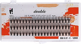 Parfémy, Parfumerie, kosmetika Svázek umělých řas, C 12 mm - Ibra 20 Flares Eyelash Knot Free Naturals