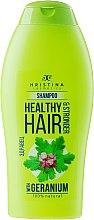Parfémy, Parfumerie, kosmetika Šampon na vlasy - Hristina Cosmetics Healthy Hair & Stronger With Geranium Shampoo