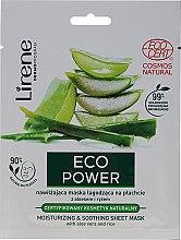 Parfémy, Parfumerie, kosmetika Hydratační zklidňující maska - Lirene Eco Power Moisturizing and Soothing Sheet Mask