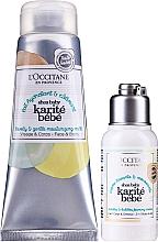 Parfémy, Parfumerie, kosmetika Sada - L'Occitane Shea Baby Bath Set (sh/cr/75ml + b/milk/75ml)