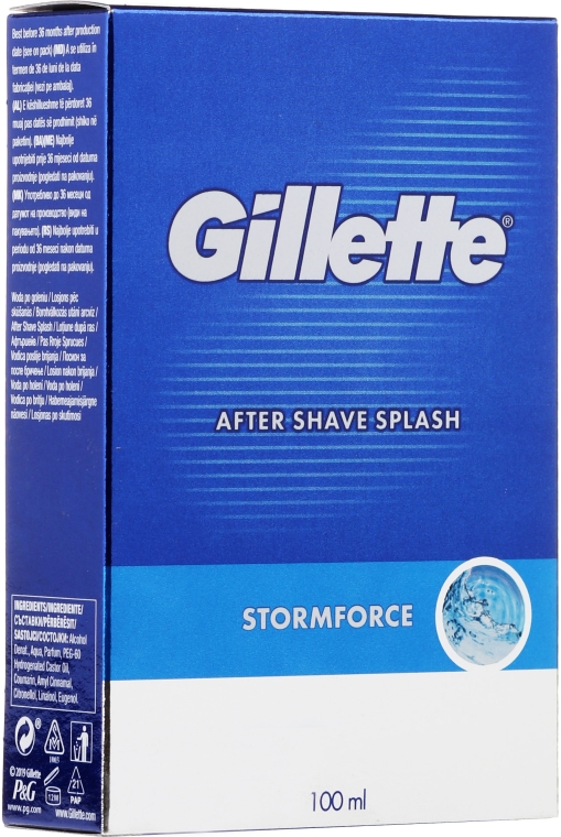 Mléko po holení Pikantné - Gillette Blue Storm Force After Shave Splash