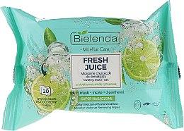 Parfémy, Parfumerie, kosmetika Odličovací micelární ubrousky s bioaktivní citrusovou vodou - Bielenda Fresh Juice Micelar Make-up Removing Wipes