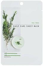 Parfémy, Parfumerie, kosmetika Látková pleťová maska s čajovníkem - Eunyul Daily Care Mask Sheet Tea Tree