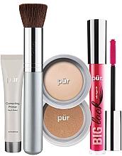 Parfémy, Parfumerie, kosmetika Sada - Pur Minerals Best Sellers Starter Kit Light (primer/10ml+found/4.3g+bronzer/3.4g+mascara/5g+brush)