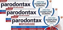 Parfémy, Parfumerie, kosmetika Sada - Parodontax Extra Fresh (t/paste 75ml + t/paste 75ml + t/paste 75ml)