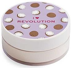 Parfémy, Parfumerie, kosmetika Sypký pudr na obličej Kokos - I Heart Revolution Loose Baking Powder Coconut