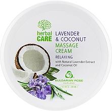 Parfémy, Parfumerie, kosmetika Masážní krém s relaxačním účinkem - Bulgarian Rose Herbal Care Lavender & Cococnut Massage Cream