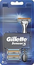 Parfémy, Parfumerie, kosmetika Holicí strojek s 6 náhradními hlavicemi - Gillette Sensor 3