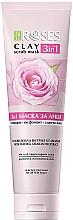 Parfémy, Parfumerie, kosmetika Jílová pleťová maska s růžovou vodou a amarantem - Nature Of Agiva Roses Pink Clay 3 In 1 Scrub Mask