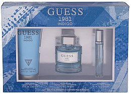 Parfémy, Parfumerie, kosmetika Guess 1981 Indigo for Women - Sada (edt/100ml + b/lot/200 + edt/15ml)