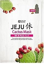 Parfémy, Parfumerie, kosmetika Vyživující plátýnková maska s kaktusem - SNP Jeju Rest Cactus Mask
