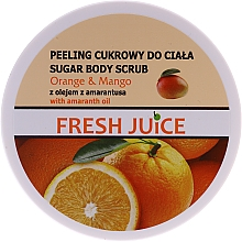 Parfémy, Parfumerie, kosmetika Cukrový tělový peeling - Fresh Juice Orange and Mango