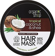 Parfémy, Parfumerie, kosmetika Maska na vlasy - Organic Shop Coconut & Shea Moisturising Hair Mask