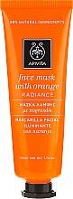 "Parfémy, Parfumerie, kosmetika Maska na obličej s pomerančem ""Zaří"" - Apivita Radiance Face Mask with Orange"