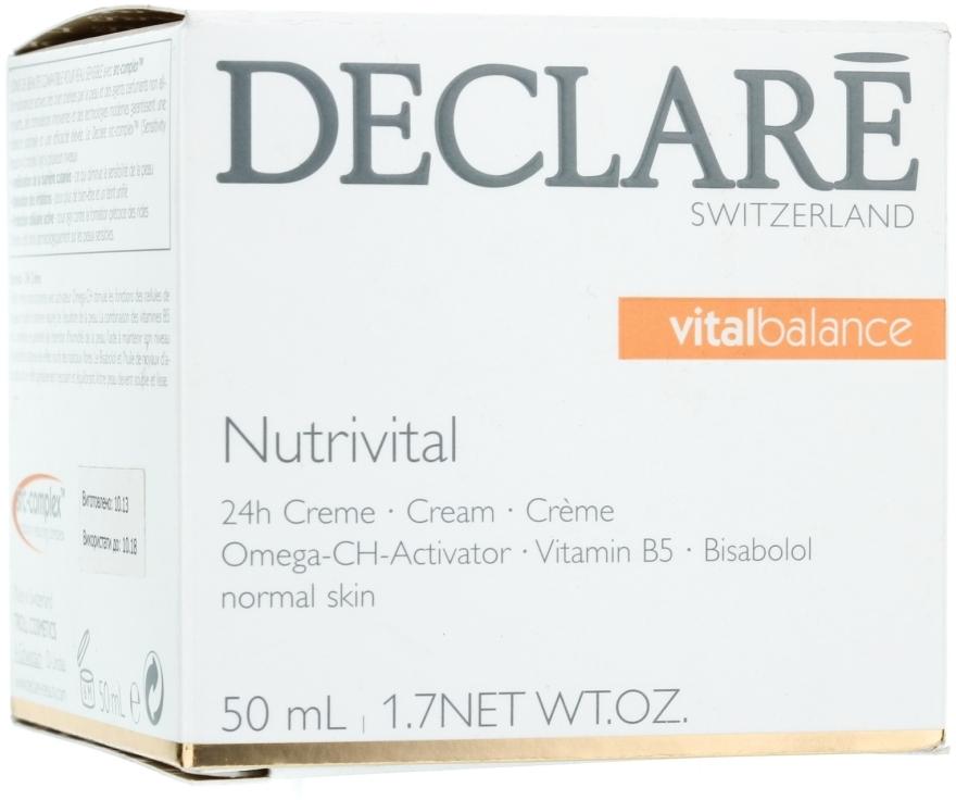 Výživný 24hodinový pleťový krém - Declare Nutrivital 24 h Cream — foto N1