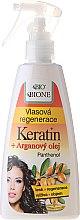 Parfémy, Parfumerie, kosmetika Regenerační sprej na vlasy - Bione Cosmetics Keratin + Argan Oil Hair Regeneration With Panthenol