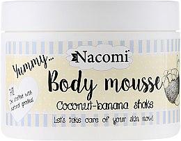 """Parfémy, Parfumerie, kosmetika Tělová pěna """"Kokosový koktejl"""" - Nacomi Body Mousse Coconut-Banana Shake"""