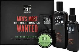 Parfémy, Parfumerie, kosmetika Sada - American Crew Men's Most Wanted (shm/250ml + cr/50g + spray/100ml + balm/7.4ml)