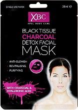 Parfémy, Parfumerie, kosmetika Čisticí maska na obličej s uhlím - Xpel Marketing Ltd Body Care Black Tissue Charcoal Detox Facial Face Mask